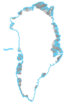 <p>A <strong>Coastal Margin</strong> in <strong>Greenland</strong> is sea level</p> Example Image