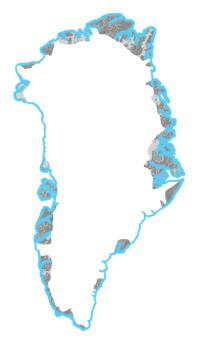 A Coastal Margin in Greenland is sea level Example Image