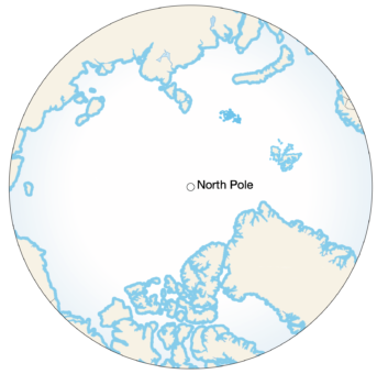 A Coastal Margin on the Arctic Ocean is any point on land Example Image